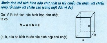 Thể tích hình hộp chữ nhật sách toán lớp 5. >>